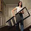 """Стрем'янка алюмінієва """"Black Slim"""", 4 ступені, висота верхньої сходинки 912 мм, 150 кг, STORM INTERTOOL LT-5004, фото 5"""
