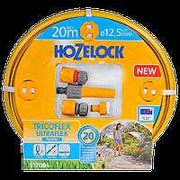 Набор для полива HoZelock 117004 шланг Ultraflex 12,5 мм 20 м + коннекторы