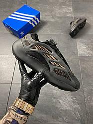 Мужские кроссовки Adidas Yeezy Boost 700 V3 Clay Brown (черные)