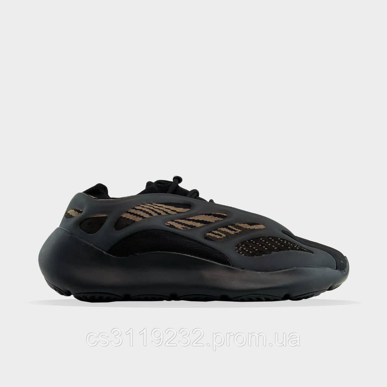 Женские кроссовки Adidas Yeezy Boost 700 V3 Clay Brown (черно-коричневый)
