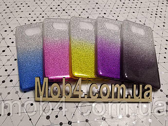 Блестящий силиконовый чехол накладка Градиент для Xiaomi (Ксиоми) Poco X3 NFC