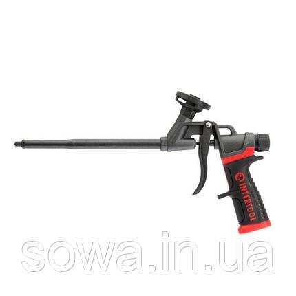 Пістолет для монтажної піни з повним тефлоновим покриттям професійний + 4 насадки INTERTOOL PT-0610, фото 2