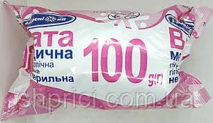 Вата 100 г нестерильная ролик/ Белоснежка/ Укрмедтекстиль