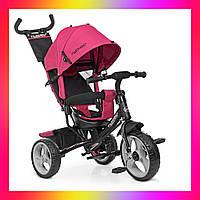 Детский трехколесный велосипед-коляска на EVA колесах, Turbotrike M 3113 розовый