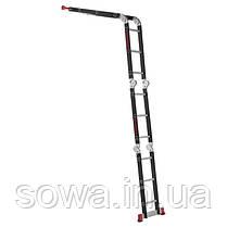 Лестница мультифункциональная трансформер 4х3ступени INTERTOOL LT-0023 : 3380мм, 150 кг, фото 2