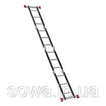Лестница мультифункциональная трансформер 4х3ступени INTERTOOL LT-0023 : 3380мм, 150 кг, фото 3
