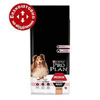 Purina Pro Plan Dog Medium Adult Sensitive Skin Optiderma 14кг - для собак середніх порід c лососем