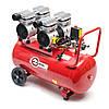 Компрессор безмасляный INTERTOOL PT-0023 : 50л, 2х0.75кВт, 4 цилиндра, фото 4