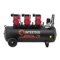 Компрессор безмасляный INTERTOOL PT-0028 : 100л, 3x1.1кВт, 6 цилиндров