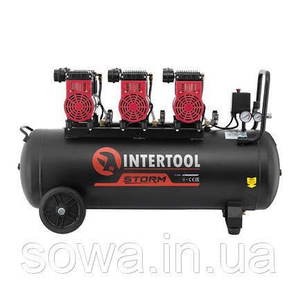 Компрессор безмасляный INTERTOOL PT-0028 : 100л, 3x1.1кВт, 6 цилиндров, фото 2