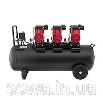 Компрессор безмасляный INTERTOOL PT-0028 : 100л, 3x1.1кВт, 6 цилиндров, фото 3