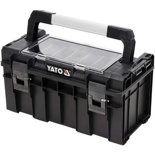 Скринька для інструментів з органайзером з 5 отворами пластиковий корпус YATO YT-09183 (Польща)