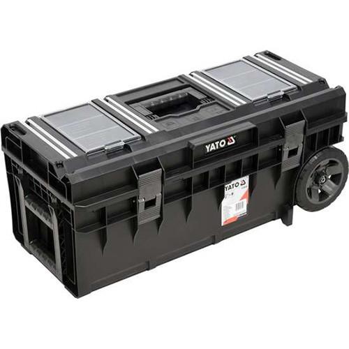 Ящик для инструментов с 2 органайзерами на 2 колесах в пластиковом корпусе YATO YT-09185 (Польша)