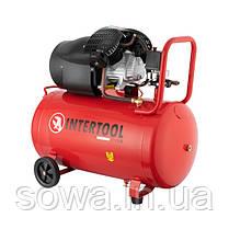 Компресор 100 л, 2.23 кВт, 220 В, 8 атм, 354 л/хв, 2 циліндра INTERTOOL PT-0005, фото 2