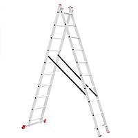 Лестница алюминиевая 2-х секционная раскладная INTERTOOL LT-0210