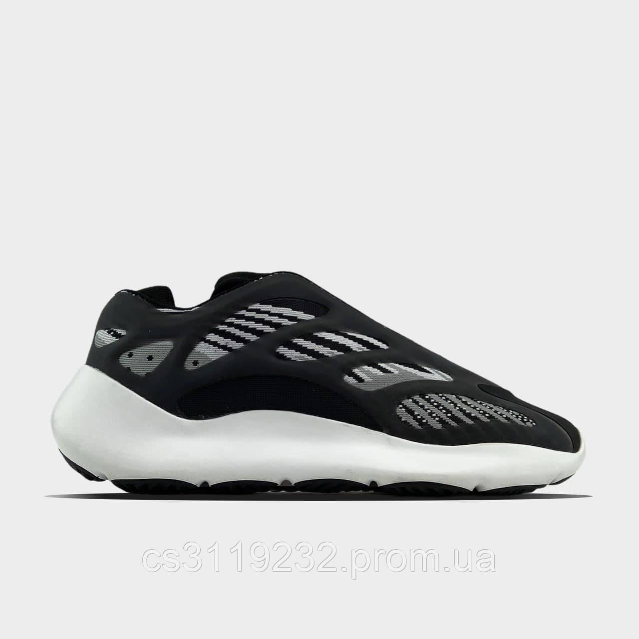 Мужские кроссовки Adidas  Yeezy Boost 700 V3 Black White (черные)