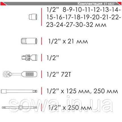 Профессиональный набор инструментов INTERTOOL ET-6027, фото 2