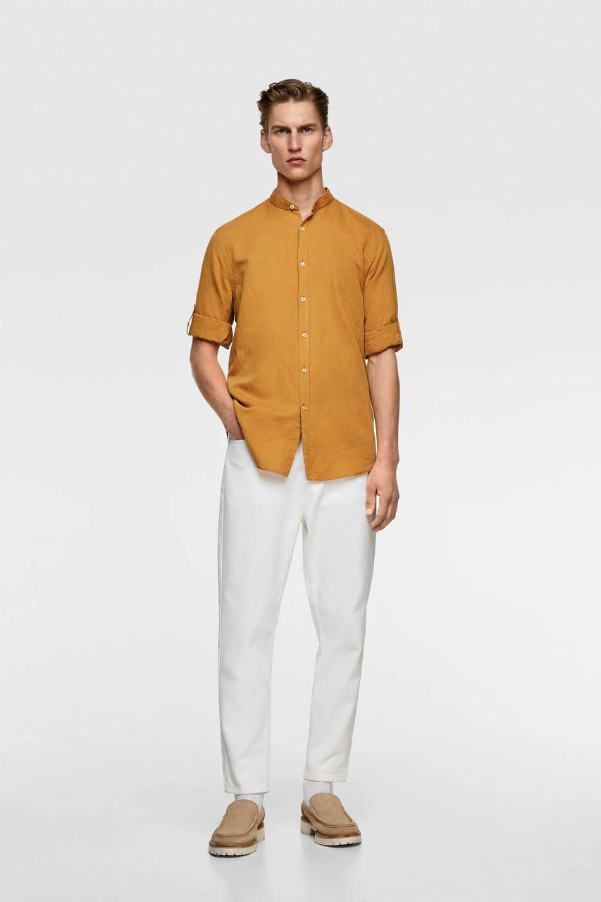 Сорочка чоловіча Zara жовта (7545 305 652)