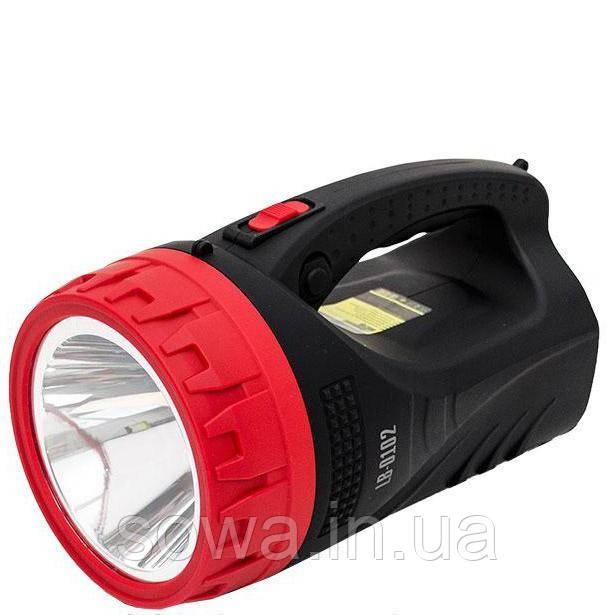 Фонарь аккумуляторный INTERTOOL LB-0102 : 1LED 5W + 25 LED