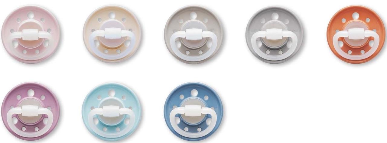 """Пустушка кругла """"Вишенька"""" (латекс) (від 6 місяців),(2 шт) Колір в асортименті/ NIP"""