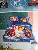 Детское постельное белье| Полуторный комплект постельного белья для детей | Постельное белье единорог