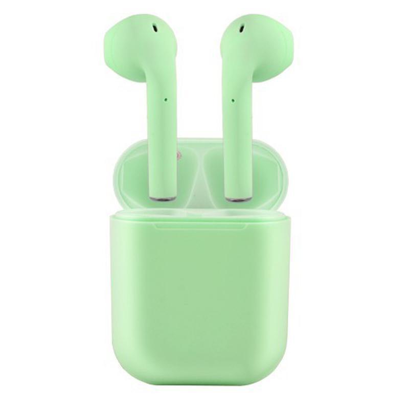 Навушники вставні BT V99-Touch TWS (bluetooth+stereo гарнітура) сенсорні green+мікрофон