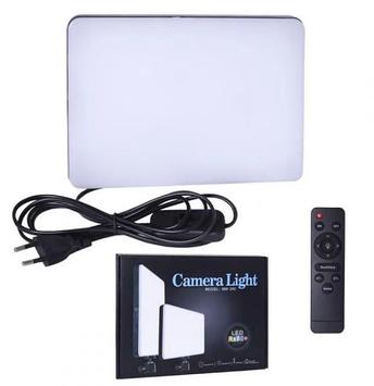Лампа прямокутна світлодіодна 23х16см пульт 220V №MM-240