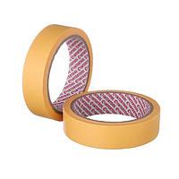Стрічка малярна автомобільна термостійка 25мм, 20м, жовта INTERTOOL DM-0025