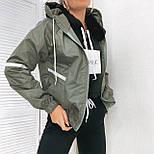 Жіноча вітровка спортивна з плащової тканини, фото 3