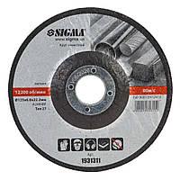 Круг зачисний по металу Ø125×6×22.2 мм, 12200об/хв SIGMA (1931311)