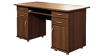 Стол письменный двухтумбовый прямой с ящиками МДФ / Мебель Сервис, фото 1