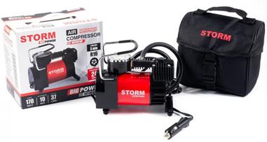 Автомобильный компрессор STORM Big Power с автостопом 10 атм, 37 л/мин, 170 Вт (20320)