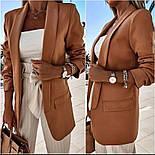 Стильний піджак жіночий подовжений, фото 2