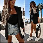 Стильний піджак жіночий подовжений, фото 4