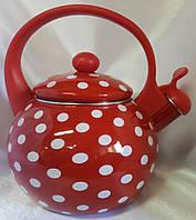 Чайник эмалированный 2,2 л Горох., фото 1