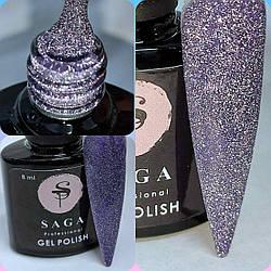 Гель лак SAGA Feiry светоотражающий 8 мл Фиолетовый №9 Гель-лаки с эффектами Мерцания Переливающийся Гель Лак