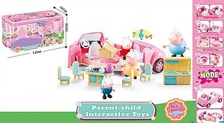 Машинка Свинка Пеппа с героями и кухней