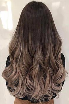 Омбре без окрашивания с помощью наращивания волос