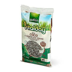Хлібці GULLON NEW рисові Vitalday з шоколадом та кокосом без глютену 117г, 8шт/ящ