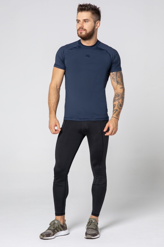 Мужская спортивная футболка Rough Radical Stone SS (original), мужской рашгард с коротким рукавом