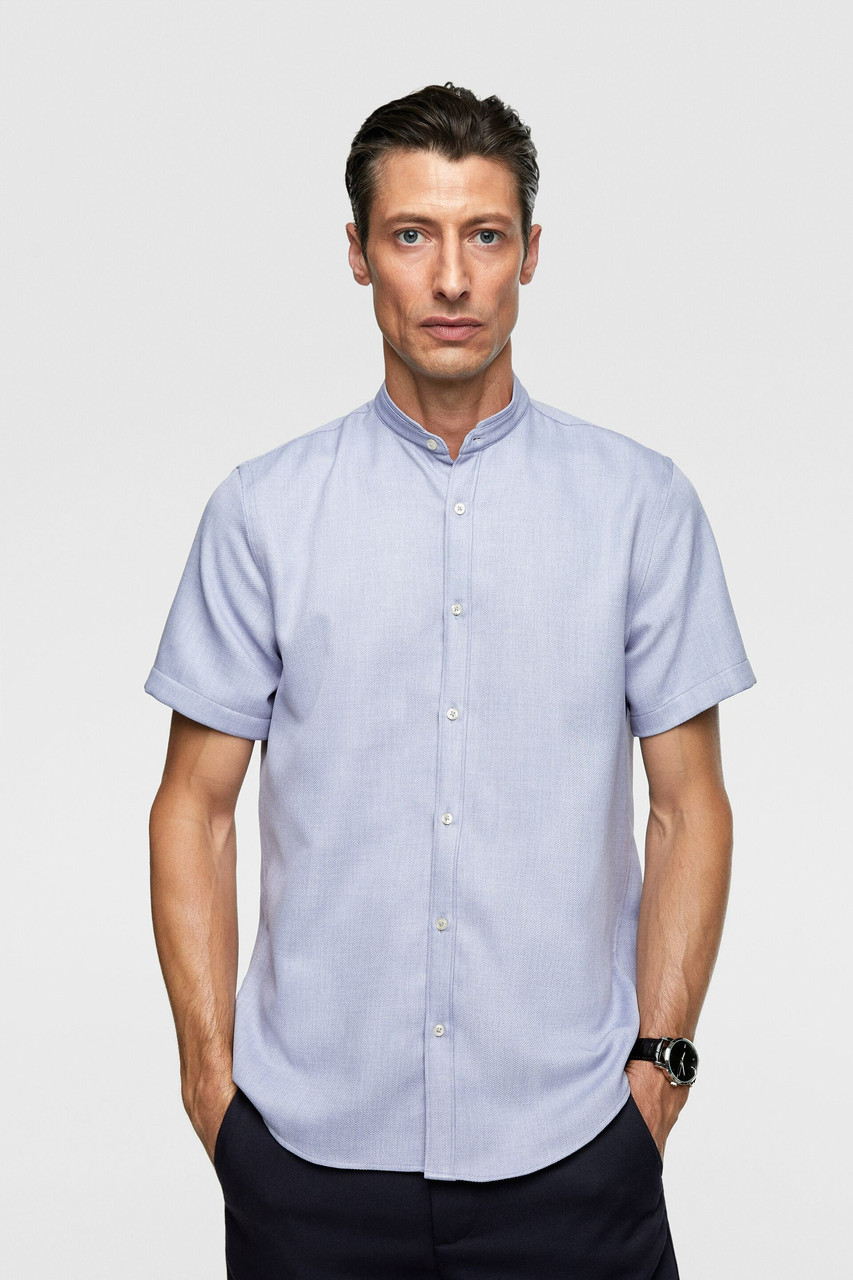 Сорочка чоловіча Zara блакитна (7545 318 403)