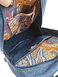Джинсовий рюкзак СИНІЙ КІТ, фото 6