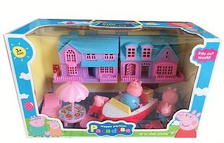 Будиночок Свинка Пеппа з героями і катером