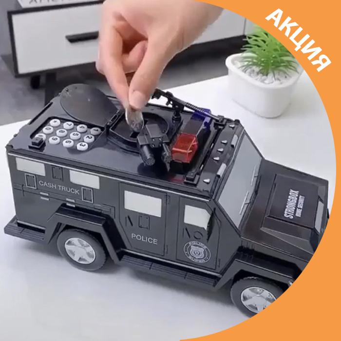✨ Іграшка машина скарбничка сейф джип з кодовим замком / електронна скринька ✨
