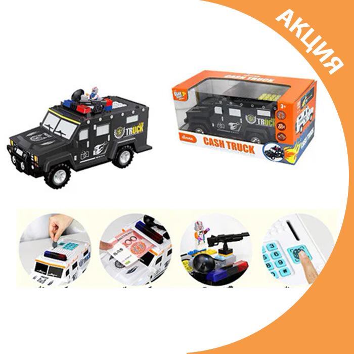 ✨ Машина скарбничка сейф поліцейський джип з кодовим замком / електронна скринька ✨