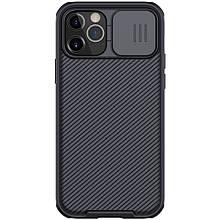 Магнитный чехол Nillkin для iPhone 12 / 12 Pro (6.1″) (CamShield Pro Magnetic Case) Black с защитой камеры