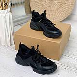 Тільки 39 р! Кросівки жіночі чорні текстиль + силікон/ гума весна-літо-осінь, фото 4