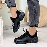 Тільки 39 р! Кросівки жіночі чорні текстиль + силікон/ гума весна-літо-осінь, фото 7