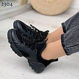 Тільки 39 р! Кросівки жіночі чорні текстиль + силікон/ гума весна-літо-осінь, фото 5
