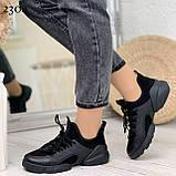 Тільки 39 р! Кросівки жіночі чорні текстиль + силікон/ гума весна-літо-осінь, фото 6